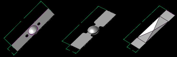 Evaporation boats standard shapes